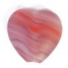 Glass Pressed Beads 10x10mm Heart Red/Brown Matt